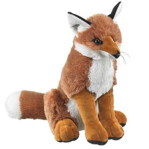 "Red Fox Sitting Plush 16"" H By Wildlife Artists - Chickadee Solutions"