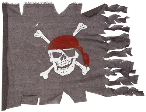 Weathered Pirate Flag Party Accessory (1 count) (1/Pkg) - Chickadee Solutions