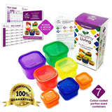Healthy Living 7 Piece Portion Control Containers Kit for Weight Loss with CO... - Chickadee Solutions - 1