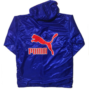 PUMA Blue and Red Embroidered Jacket