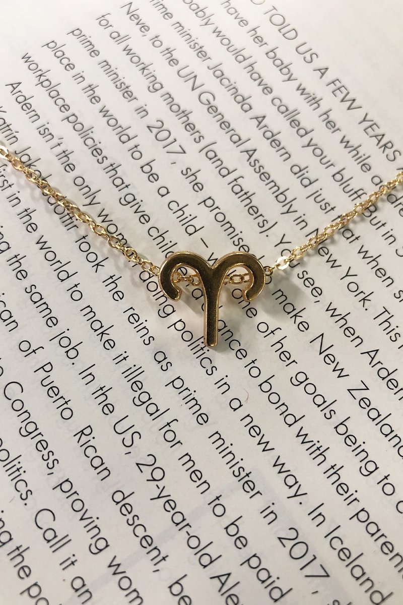 ARIES ZODIAC NECKLACE - GOLD