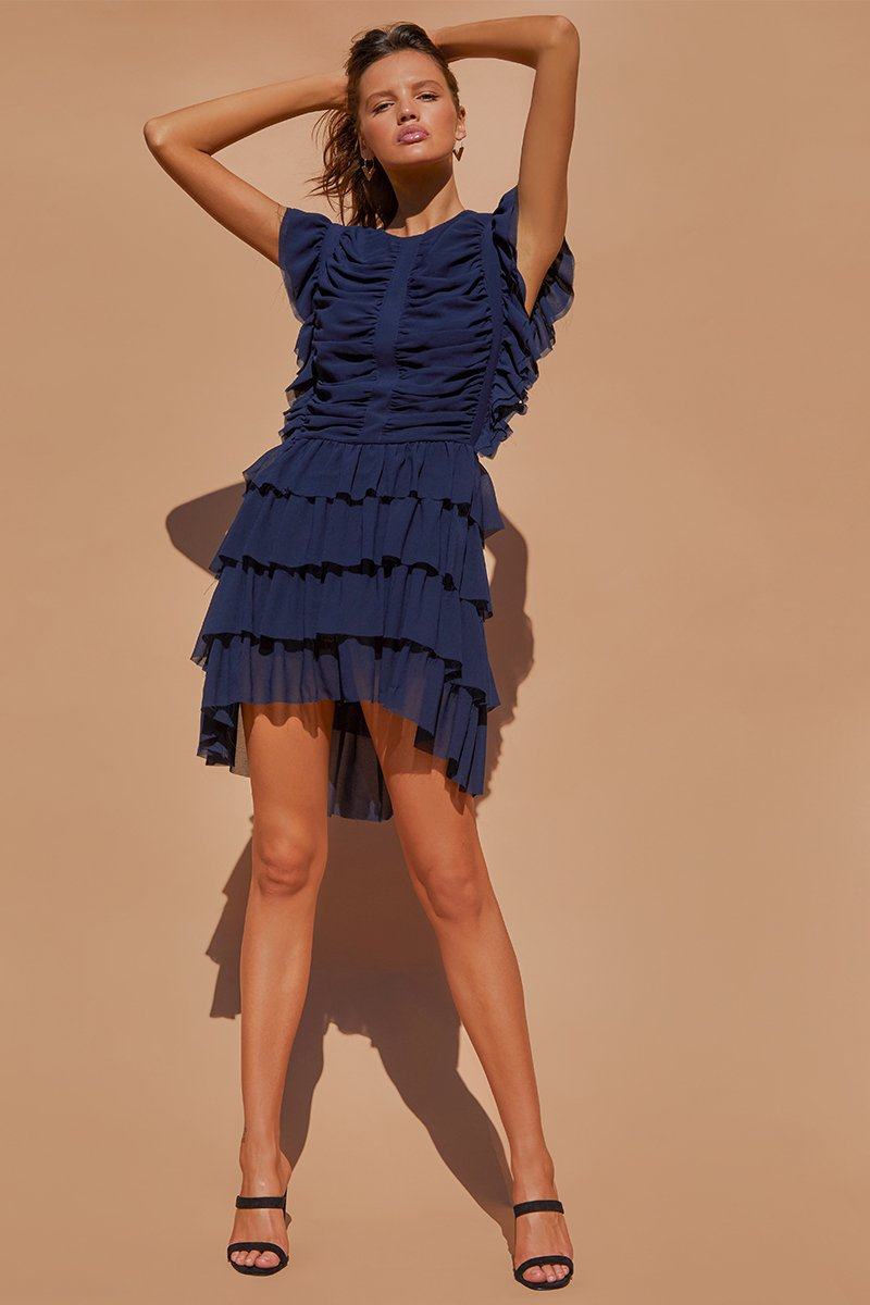 KATIE DRESS - NAVY