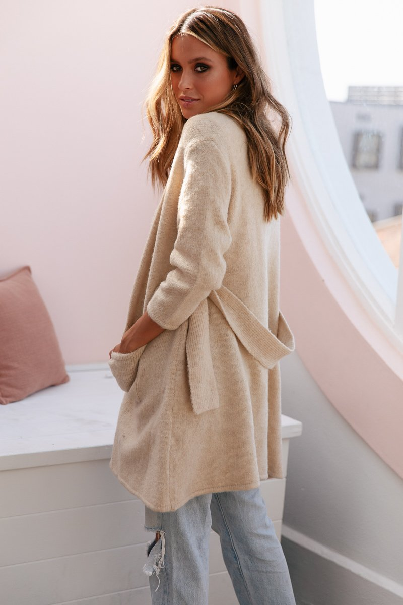 STEVIE CARDIGAN - CREAM