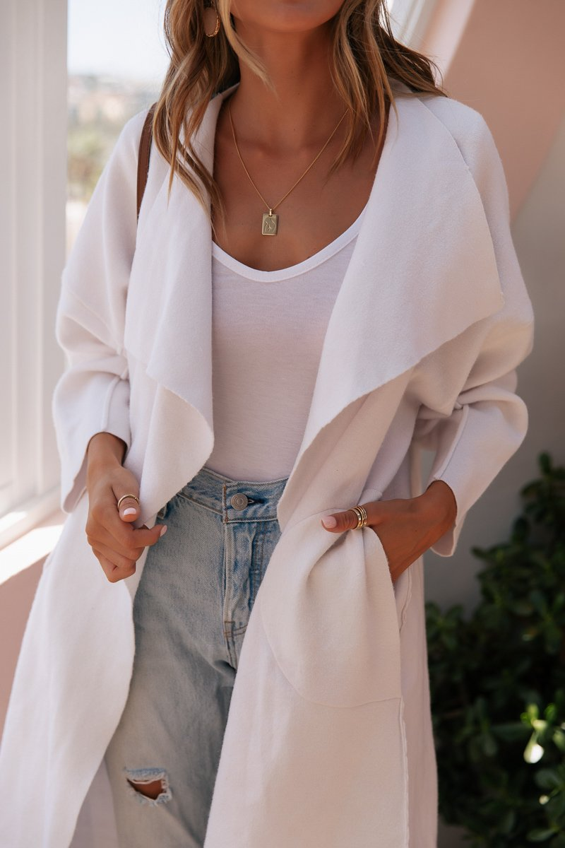 TIA CARDIGAN - WHITE