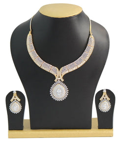 American Diamond Necklace Set - Jewellery - SharePyar
