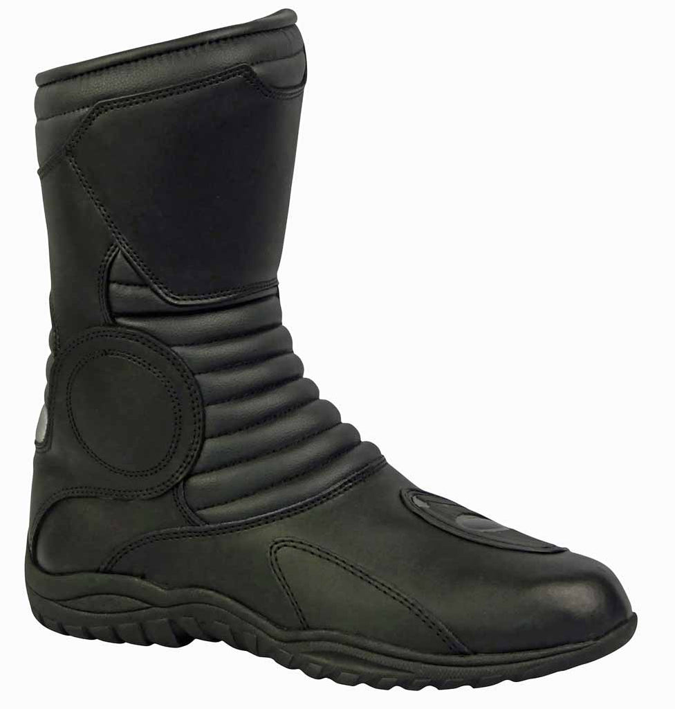 Leather Motorcycle Boot With Shin Protection