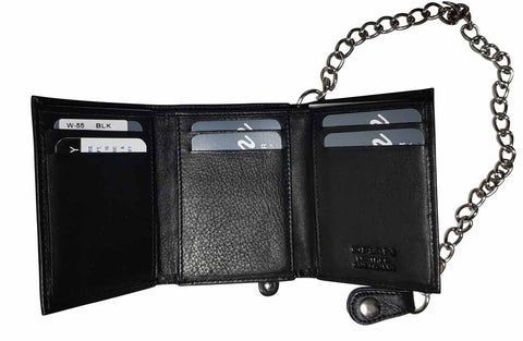 Image of Chain Wallet Black