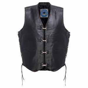Johnny Reb Capricorn Leather Motorcycle Vest