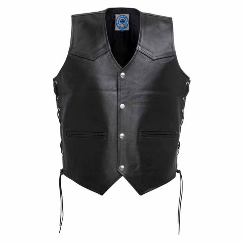 "Image of Johnny Reb ""Tasman""Motorcycle Leather Vest"