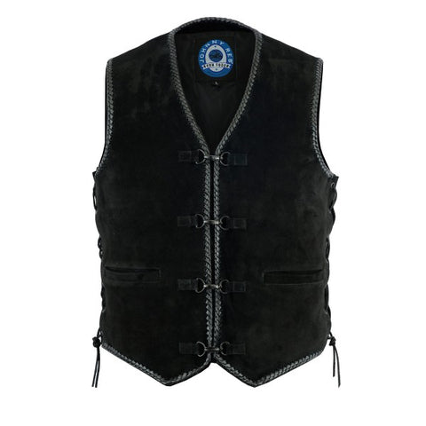 "Image of Johnny Reb ""Lightning Ridge"" Suede Leather Vest"