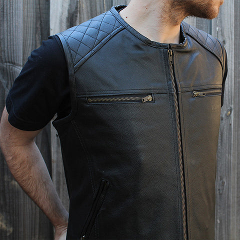 "Image of Johnny Reb ""Savage River"" Leather Vest"