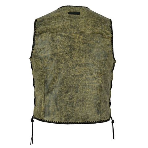 "Johnny Reb ""Sturt"" Mungai Vintage Leather Vest"