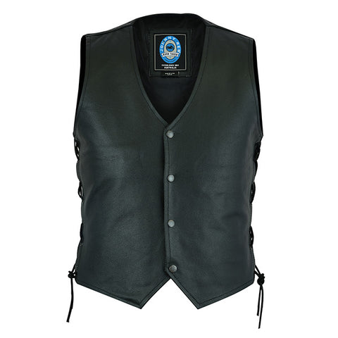 "Image of Johnny Reb ""Plenty"" Leather Motorcycle Vest"