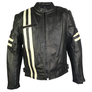 Classic Retro Leather Jacket-Jupiter