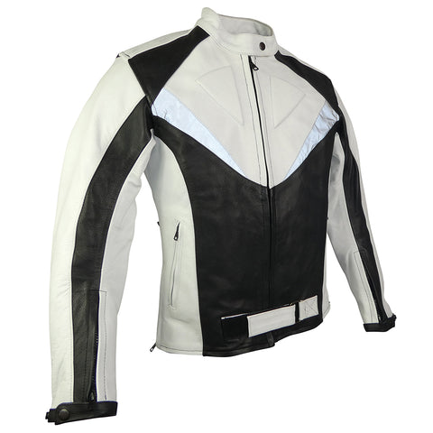 Black & White Sport Rider Jacket-Ruby