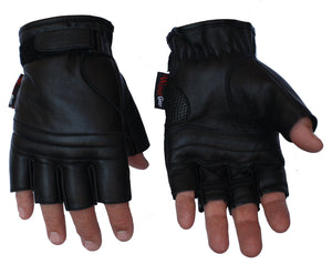 Premium Grade Fingerless Motorcyle Gloves