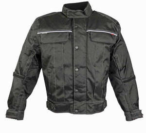 All Black Riding Jacket With Zippered Air Vents-Don
