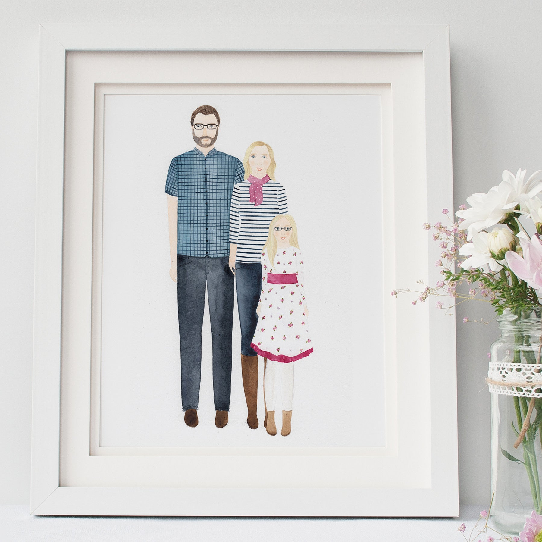 Custom Family Portrait Illustration - Nia Tudor Illustration