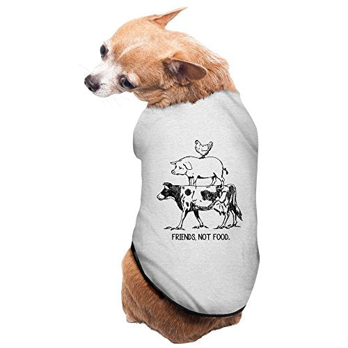 Fashion Sleeveless Pet Supplies Farm Animal Cow Pig Chicken Pyramid Dog Jackets Dogs T Shirts