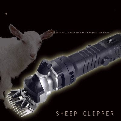 Huanyu 350 W Electric Sheep Goat Clippers Shears Groomer Wool Shearing Sheep Clipper Sheep Shearing Clipper Sheep Wool Shear Livestock Pet Animal Farm 2400 rpm & 13 straight blade