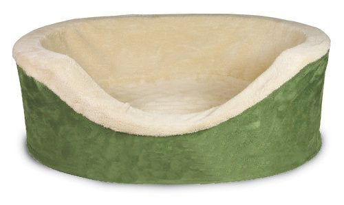 Highland Farms Select Heavy Duty Oval Pet Bed - Bed Cover/Removable & Washable Cushion-Cats & Dogs Snuggly Sleeper Bed for Small/Medium Pets