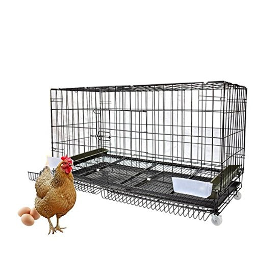 Square dog cage,Metal dog crate farms breeding a large cage bird-A 120x50x65cm(47x20x26inch)