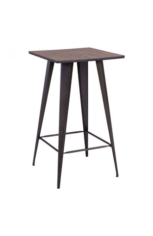 Zuo Modern Titus Faux Rusty Finish Bar Table -  - 1