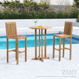 Zuo Modern Trimaran Teak Wood Bar Chair -  - 2