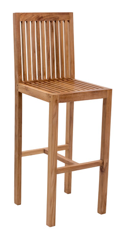 Zuo Modern Trimaran Teak Wood Bar Chair -  - 1