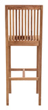 Zuo Modern Trimaran Teak Wood Bar Chair -  - 4
