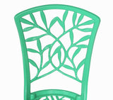 Meadow Decor Outdoor Bistro Aluminum Table and Chairs Set - gardenmybalcony.com - 6