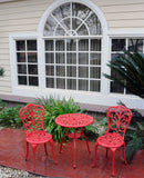Meadow Decor Outdoor Bistro Aluminum Table and Chairs Set - gardenmybalcony.com - 1