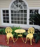 Meadow Decor Outdoor Bistro Aluminum Table and Chairs Set - gardenmybalcony.com - 7