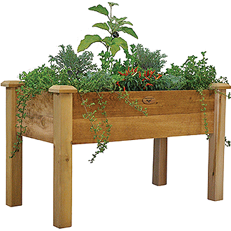 Gronomics Easy Assembly Rustic Elevated Garden Bed - 24X48X32 - gardenmybalcony.com