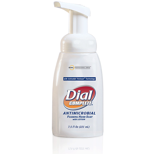 Dial Complete Antimicrobial Foaming Hand Soap 7.5 oz, 12/Case