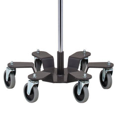 Buy Low Gravity Base Stainless Steel Infusion Pump Stand with 6 Legs online used to treat IV Pole - Medical Conditions