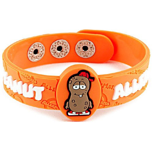 Buy AllerMates P Nutty Peanut Allergy Alert Wristband online used to treat Allergy Relief - Medical Conditions