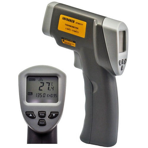 High Temperature Precision Infrared Thermometer w/ Adjustable Emissivity