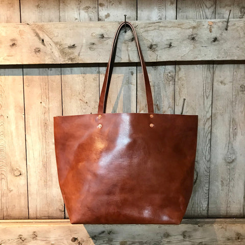 Bourbon Leather Tote