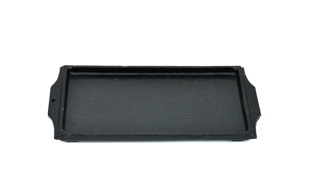 Korean Cast Iron Barbecue Sizzling Plate, Rectangle 구형 무쇠 판