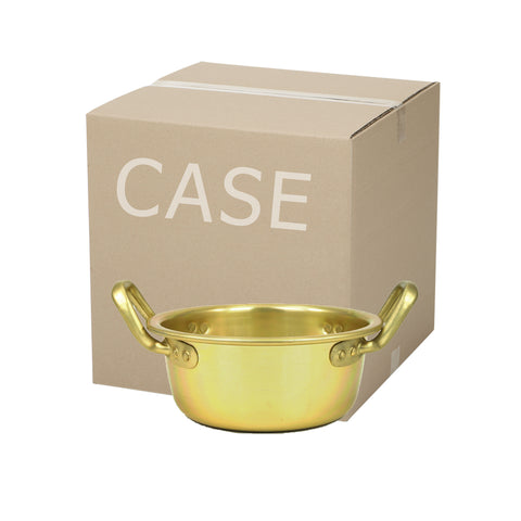 Nickel Plated Yellow Aluminum Korean Pot, High 양은 높은 냄비 (Case)