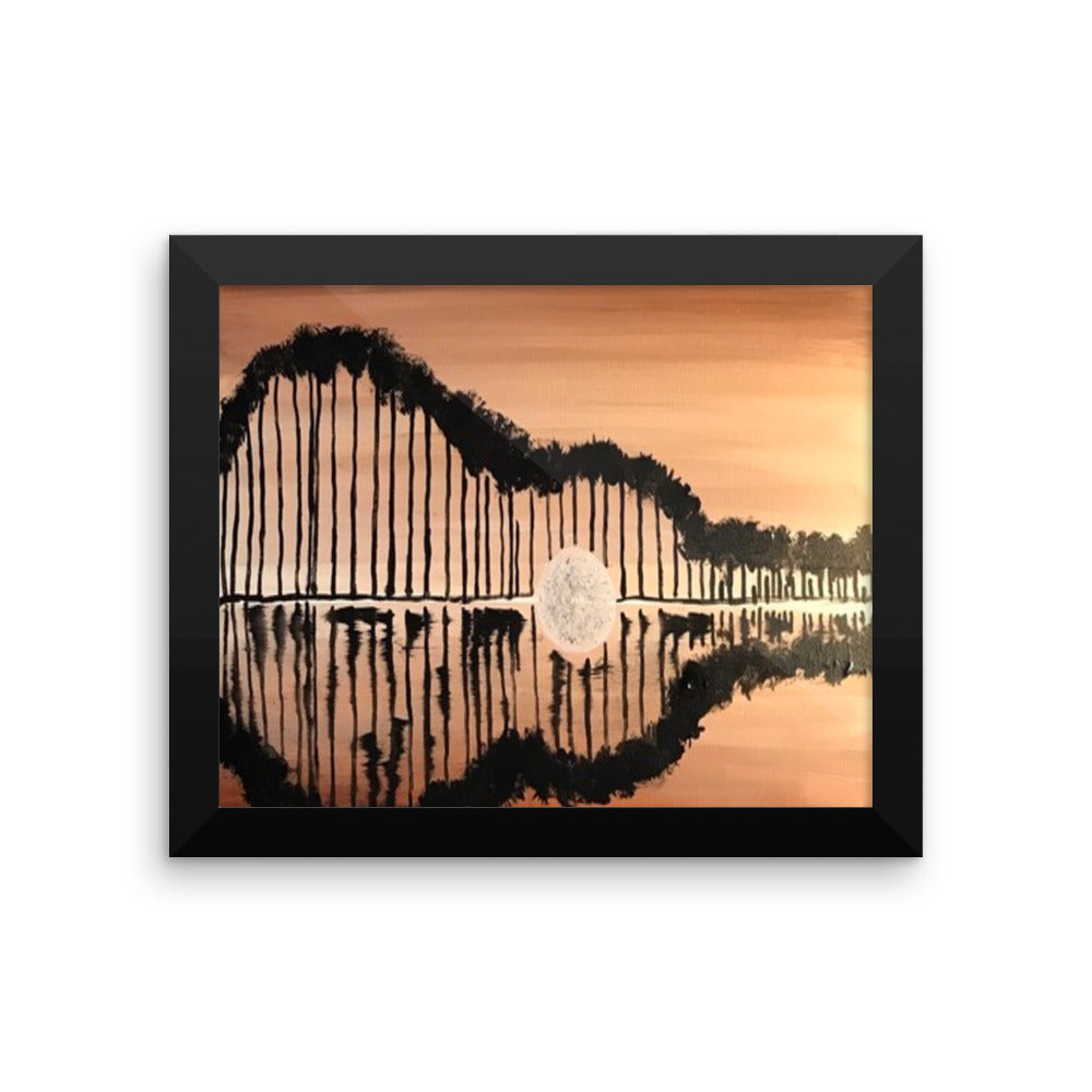 Framed poster Guitar
