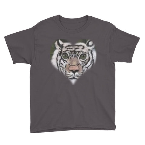 Youth Short Sleeve White Tiger T-Shirt