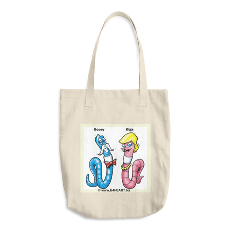 Cotton Tote Bag The LOVE Worms