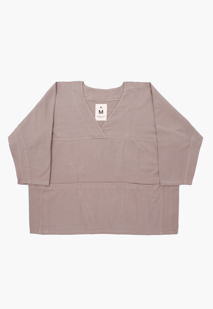 Gray Canvas Pocket Smock