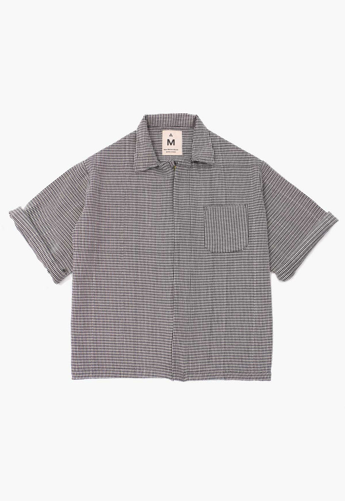 Houndstooth Zip Overshirt