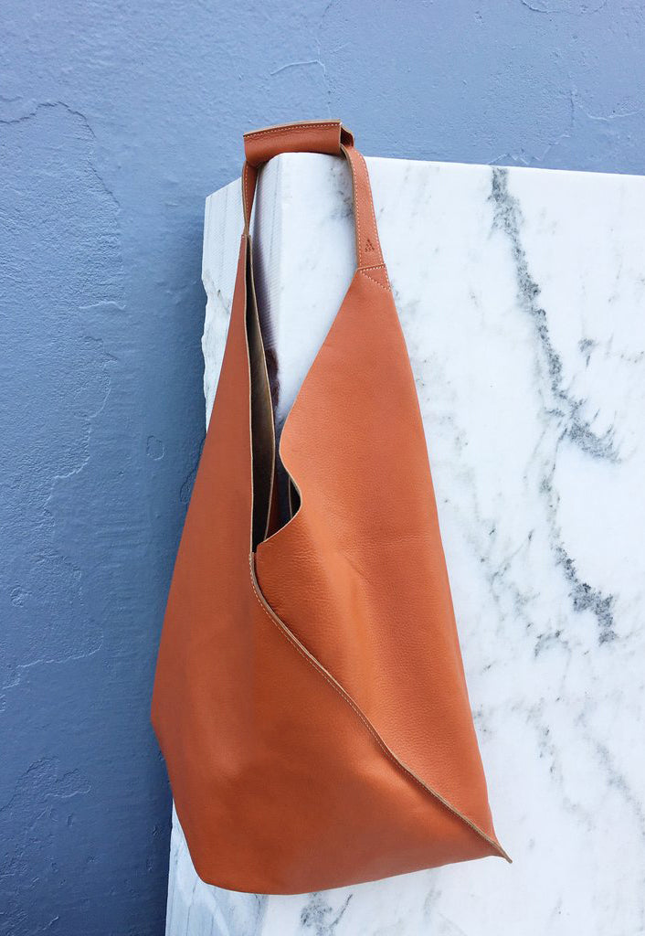 Leather Johla Market Bag
