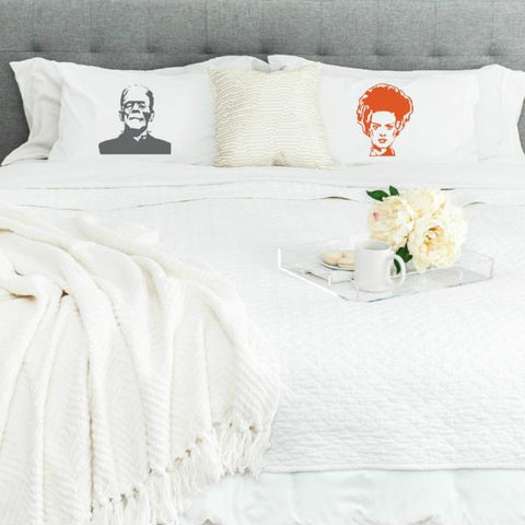 Frank and Bride of Frank Pillowcase Set