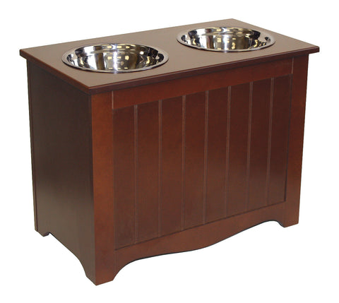 Mountain Woods Chocolate Brown Pet Food Server and Storage Box 1