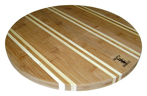 "Simply Bamboo 14"" Newport Round Cutting Board"